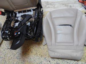 Oprava perforované části sedadla